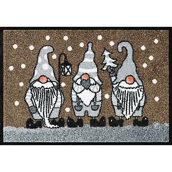 inverno seco + lavagem anões tapete de entrada de sujeira taupe esteira 40 x 60 cm
