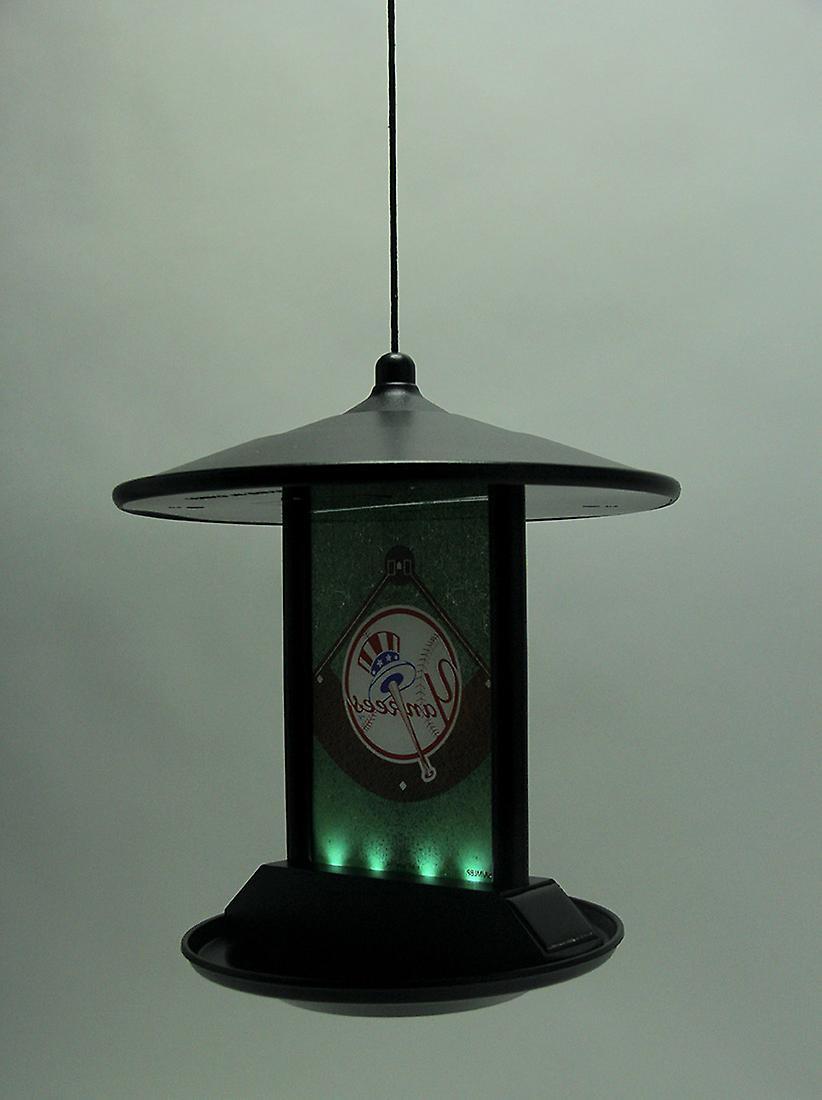New York Yankees Logo Solar Powered Hanging Birdfeeder