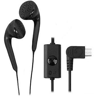 LG Micro-USB Stereo Earbud Headset für LG A340, CF360, dLite GD570, GD710 Shine II, GR500 Xenon, VU Plus GR700, GS170