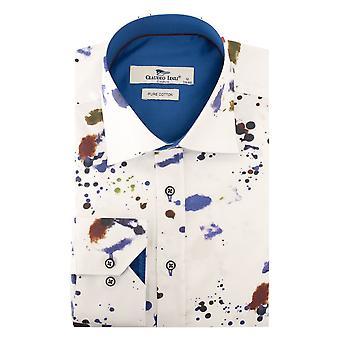 Claudio Lugli Abstract inkt afdrukken Mens Shirt