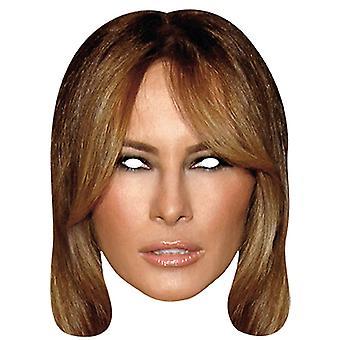Melania Trump première dame visage masque Halloween Carnaval