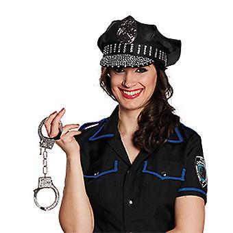 Politie Hat Strass accessoires Hat carnaval Halloween COP Gesetzeshütter YMCA