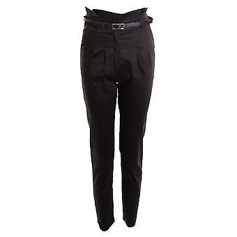 新しいレディース ベルト付きチノ スマート ストレート学校女の子女子ズボン