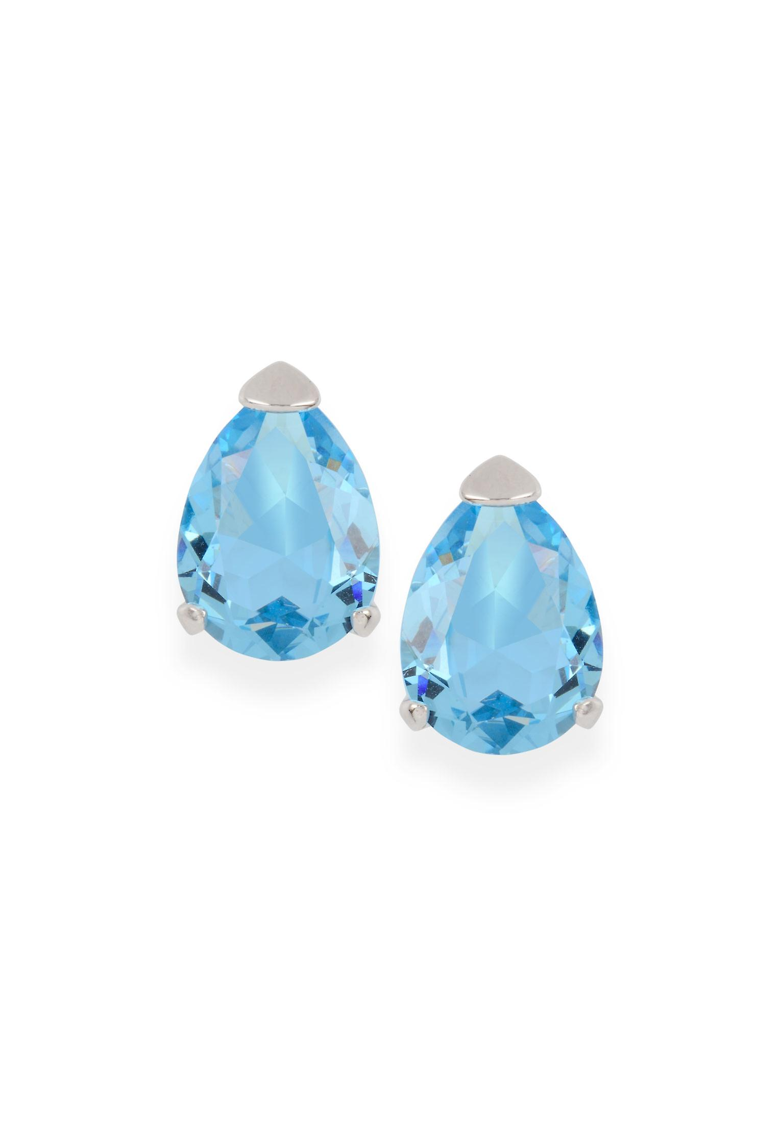 Blue earrings with crystals from Swarovski 391