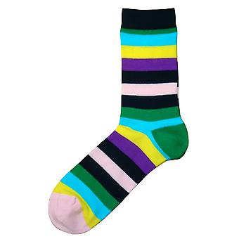 Bassin and Brown Multi Striped Socks - Multi-colour
