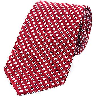 David Van Hagen Spot målrette mønster silke slips - rød