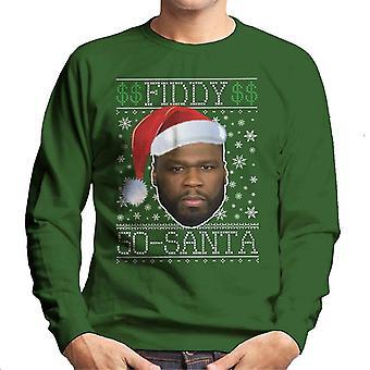 Fiddy Santa 50 Cent kerst brei mannen Sweatshirt