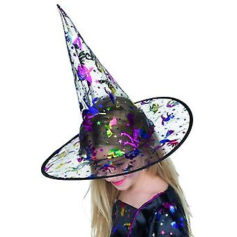 Witch Hat metallic print for Kids Halloween accessory