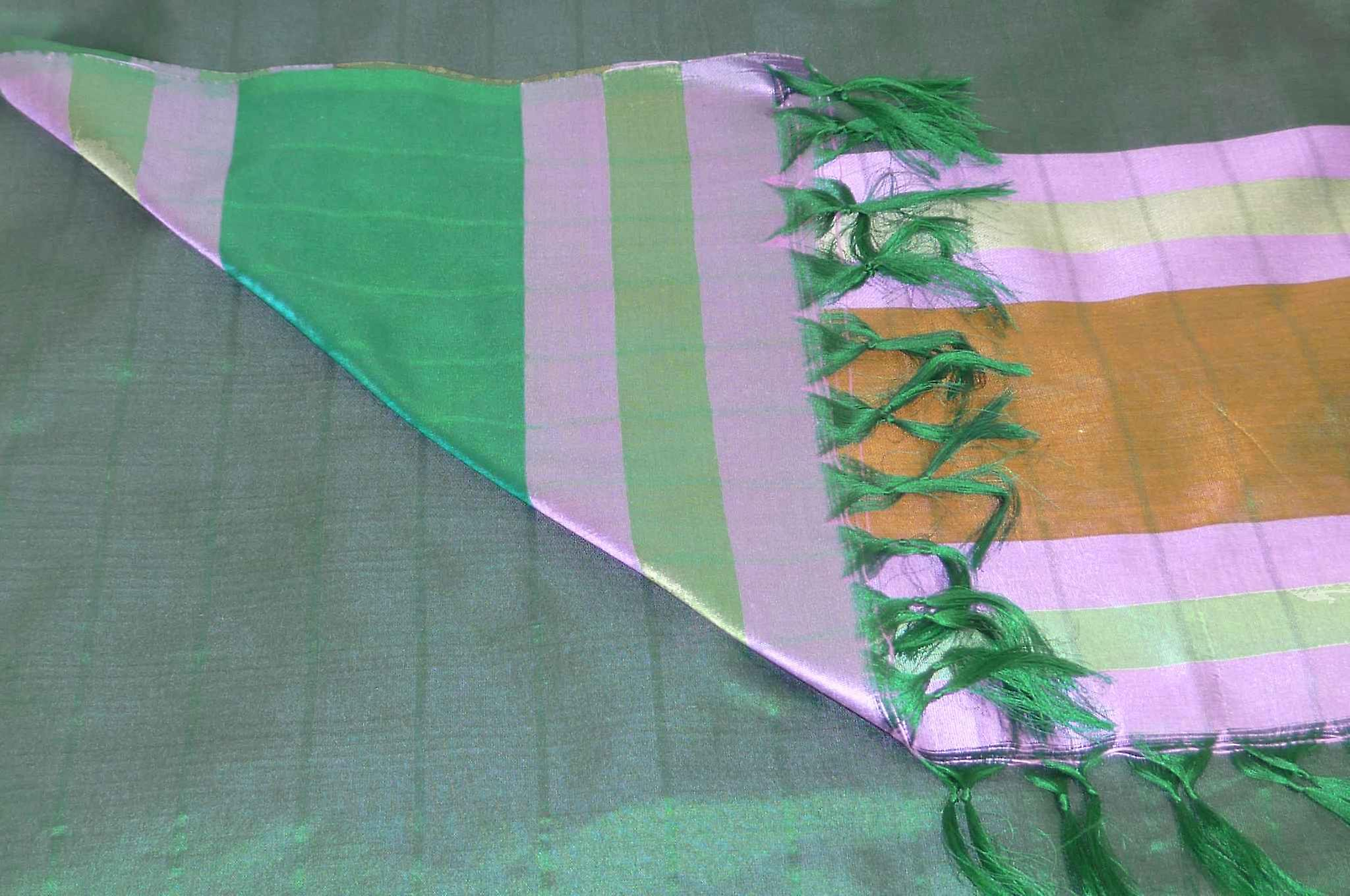 Varanasi Border Prime Silk Long Scarf Heritage Swami 602 by Pashmina & Silk