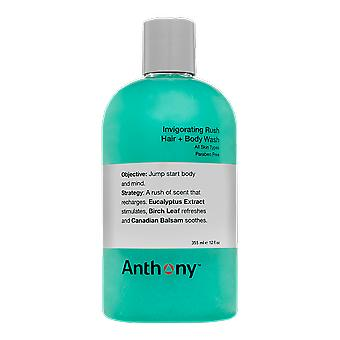 Anthony verkwikkende Rush haar + Body Wash 355ml
