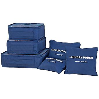 Blue 6pcs inserts for suitcases