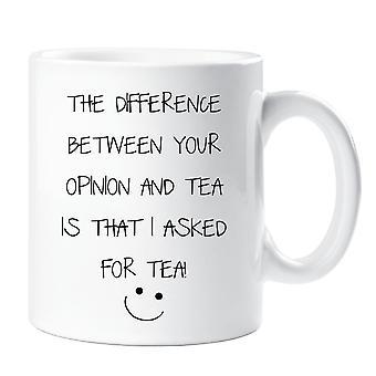 Sarkasme krus forskellen mellem din udtalelse og te er jeg bad om te