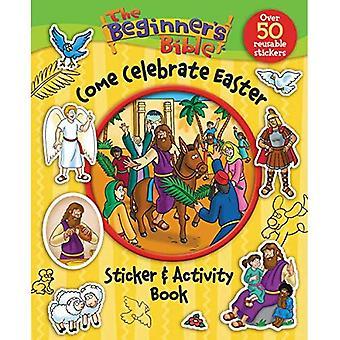 The Beginner's Bijbel komen vieren Pasen Sticker Book en activiteit