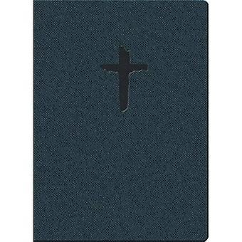 Kjver cadeaux et prix Thinline personnels taille en cuir Imitation Reptile bleu: King James Version facile lire
