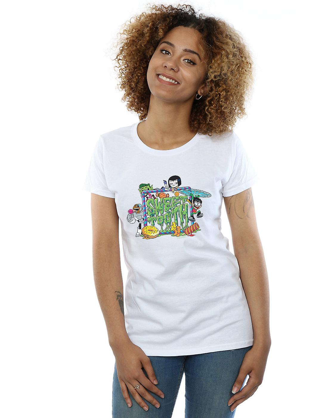 DC Comics Women's Teen Titans Go Sweet Tooth T-Shirt