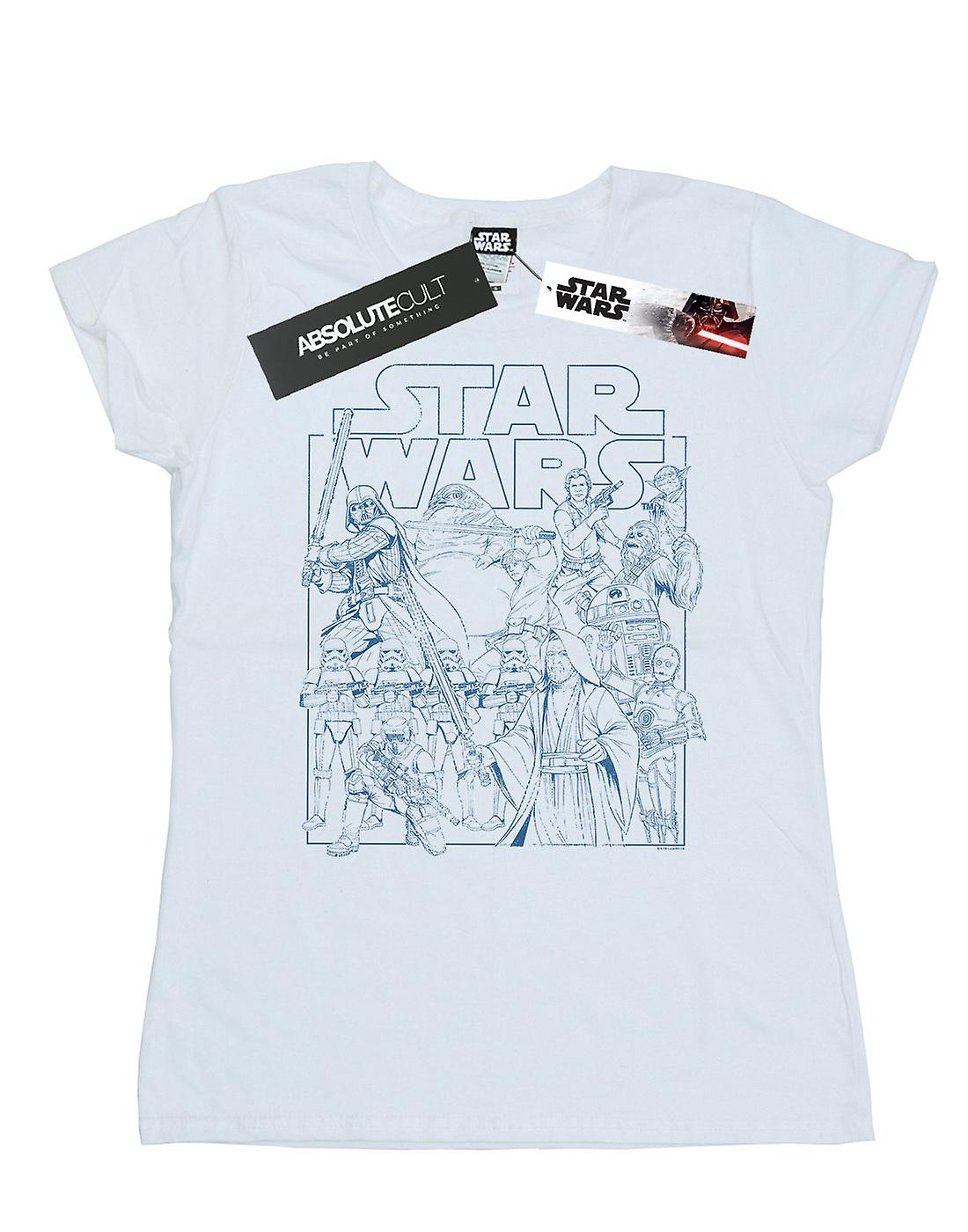 Star Wars Women's Outlined Sketch T-Shirt