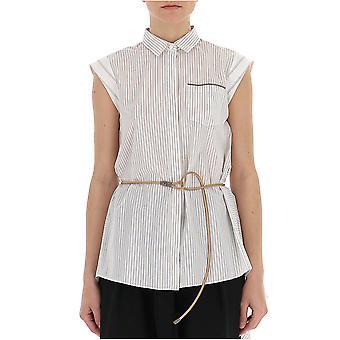 Brunello Cucinelli Mf750ng306c003 Women's Beige Cotton Shirt