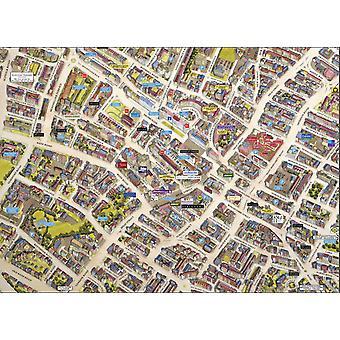 Stadsbilder Street karta över Cheltenham 400 bit pussel 470 x 320 mm (HTF)