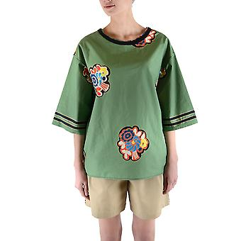 Filosofia Por Lorenzo Serafini Ezbc087018 Women's Green Cotton T-shirt