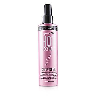 Sexy Hair Concepts Hot Sexy Hair Support Me 450ºf Heat Protection Setting Hairspray - 250ml/8.5oz