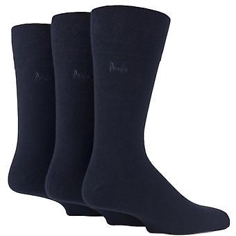 Pringle Dunvegan 3 Pack calcetines de agarre suave - Marina de guerra