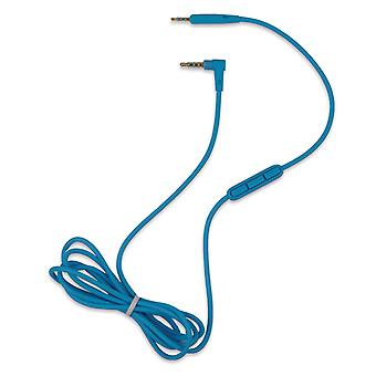 REYTID Audio Cable Compatible with Bose SoundLink SoundTrue Headphones with Inline Remote, Volume Control and Microphone - Blue - Compatible with iPhone / Android