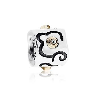 Pandora Life's Path Silver 14k Gold & Diamond Charm 790419D