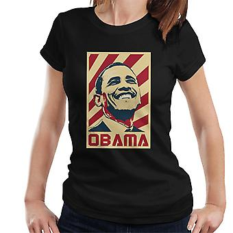 Barack Obama retro propaganda naisten T-paita
