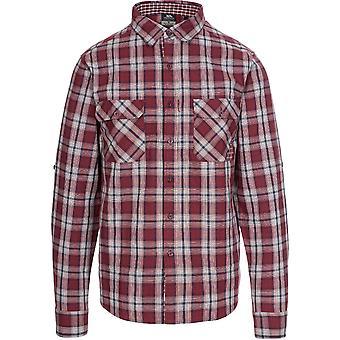 Trespass mens Shottery knop ingedrukt lange mouw casual shirt