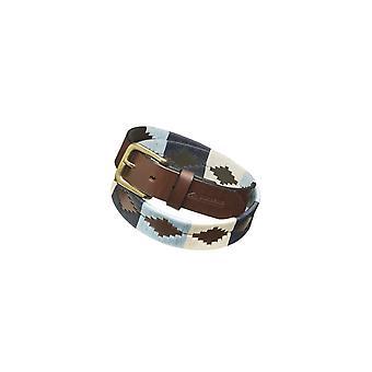 Pampeano Sereno Leather Polo Belt Blue/white
