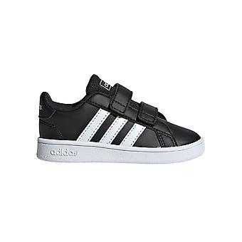 Adidas Grand Court niemowlę dzieci Sport Fashion Trainer Shoe Black/White