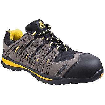 Amblers Safety Mens FS42C Metal Free Lace Up Safety Trainer Black