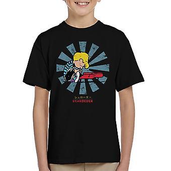 Schroeder Retro Japanese Peanuts Kid's T-Shirt