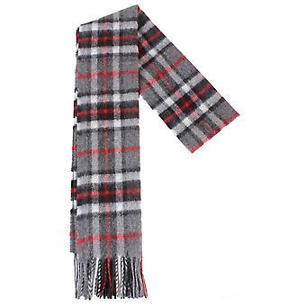 Locharron of Scotland Thompson Lambswool Scarf - Grey/Black/Red