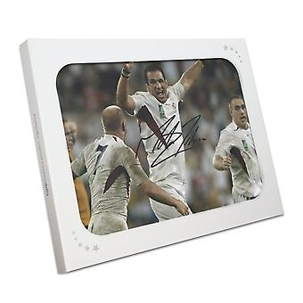 Martin Johnson Signed England 2003 World Cup Rugby Photo: The Final Whistle In Gift Box