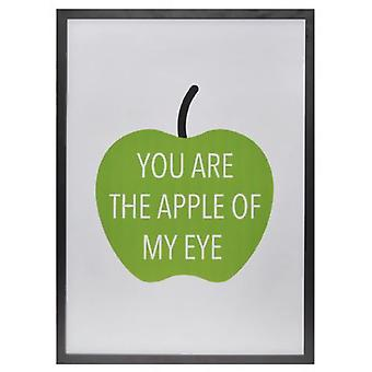 Wellindal Table  You Are the Apple of My Eye  white background 54x74x1,9 cm