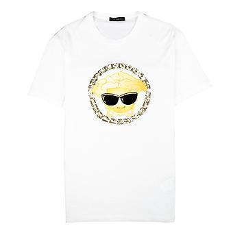 Versace Medusa Sun Glasses T-Shirt White