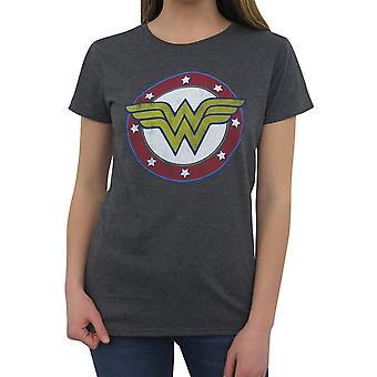 Wonder Woman Symbol & Stars T-Shirt for Women
