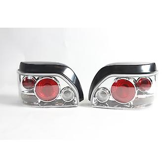 Clear Lexus style Tail lamps for Renault Clio 1991-1998 Set Left and Right