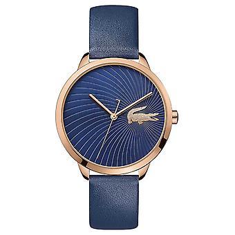 Lacoste | Kvinder ' s Lexi | Blå læderrem | Blå skive | 2001058 Watch