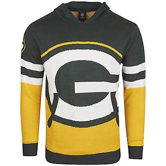 NFL Ugly Sweater Big Logo Knit Hoody - Green Bay Packers