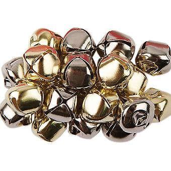 SALE - 20 Silver & Gold Jingle Bells for Crafts - 20mm