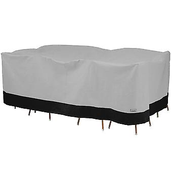 Rectangular / Oval Patio Table and Chair Set Outdoor Furniture Storage Cover - 140