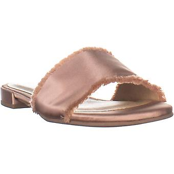 Chinese Laundry Womens Pretty Satin Satin Open Toe Casual Slide Sandals