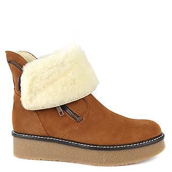 Shepherd of Sweden Karita Camel Suede Platform Boot