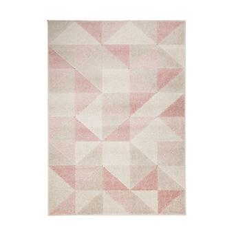 Triángulo Urbano Blush Rosa Rectángulo Alfombras Modernas