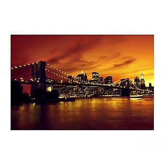 Canvas, Picture on canvas, Brooklyn Bridge and Manhattan at sunset