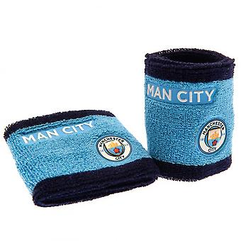 Manchester City FC Wristbands (Set Of 2)