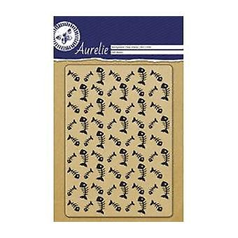 Aurelie Fish Bones Background Clear Stamp