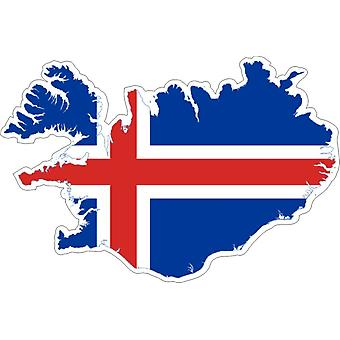 Sticker Sticker Adhesif Vinyl Car Flag Iceland Map